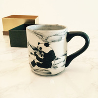 Cut Animal Panda Cup with antique marbling Coffee Mug Ceramic Mugs water bottle tea Cup Milk Breakfast Drinkware Office Gift