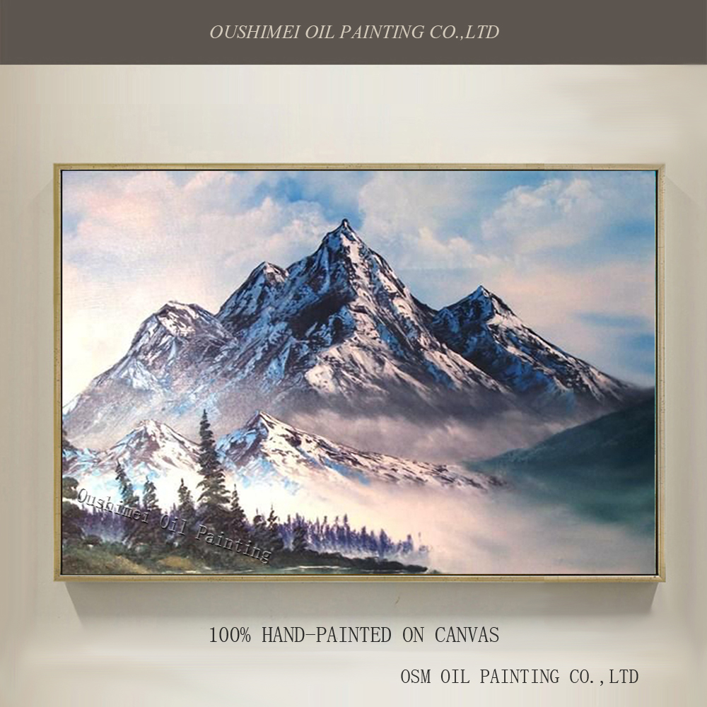 Wonderful Natural Scenery Oil Painting On Canvas Abstract Mountain Hills Oil Painting For Drawing Room And Living Room Decor
