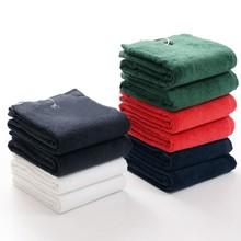 купить 2018 New 2pcs/lot Custom 100% Cotton Sport Towel with Hook Black Swim Travel Gym Golf Fitness Towels Face Washcloth дешево