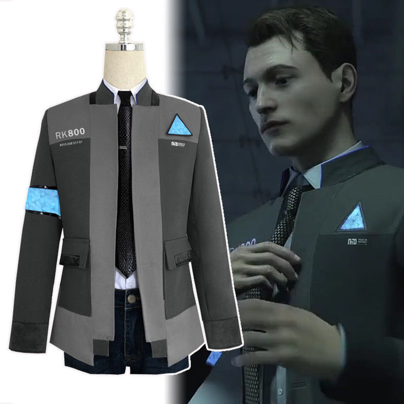Detroit: Become Human Connor RK800 Cosplay Costume Suit Outfit Men Coat Jacket
