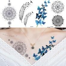 Vente En Gros Blue Butterfly Tatoo Galerie Achetez A Des Lots A