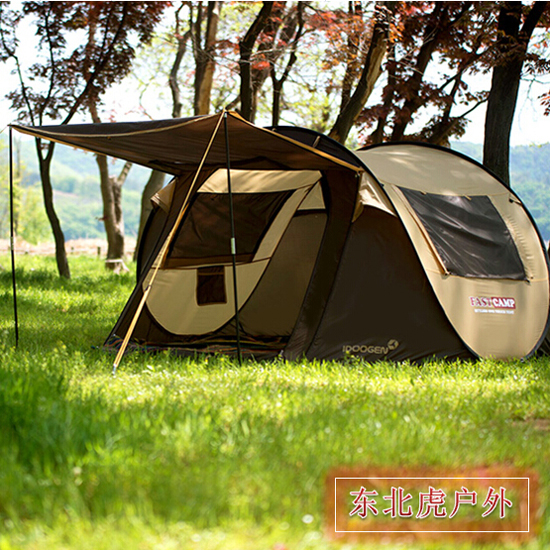 2018 the New South Korean brand automatic tent outdoor camping tents free camping tent 4~5 people pop up outside travel tent the red tent