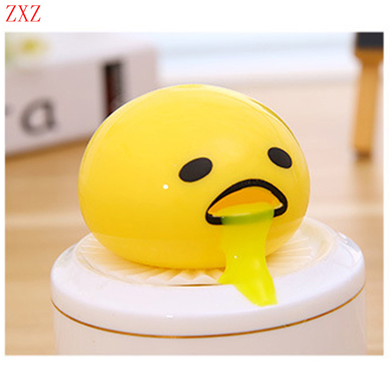 1piece Novelty Magic Tricky slime Vomiting Toys Egg antistress Practical Gudetama Vomiting Egg Yolk Christmas toys for children