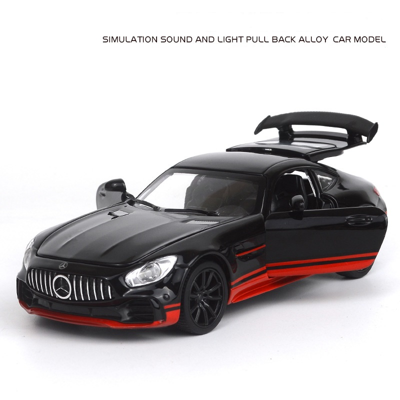 1:32 Simulation For Benz AMG GT Alloy Sports Car Model With Pull Back And Cool Sound Light Diecast Car Model Kids Toy