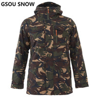 GSOU SNOW Winter Ski Jacket Men Snowboard Jacket Waterproof Windproof Skiing Suit Male Outdoor Snowboarding Clothing High Q