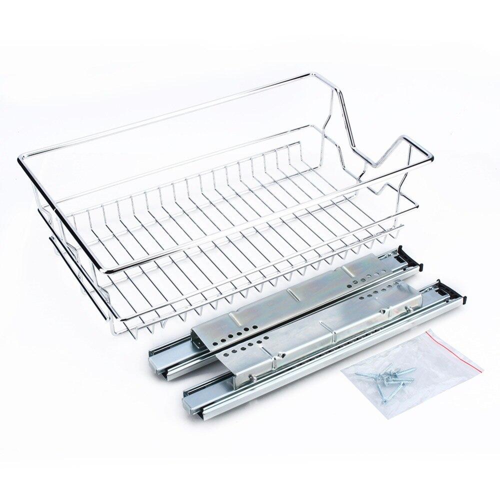 5 Compartiment Chrome Wire Couverts Ustensile Tiroir Plateau Organisateur de stockage Rack Nouveau
