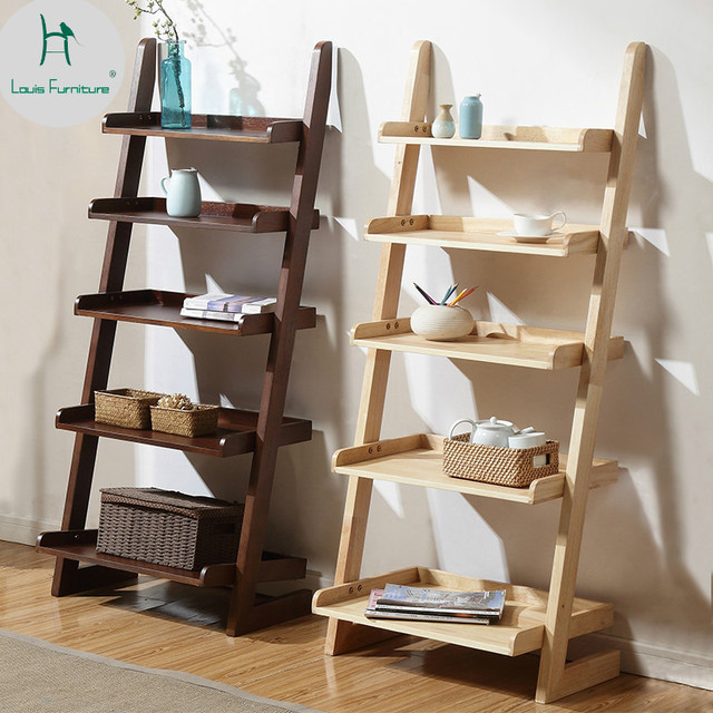 Louis Fashion Bookcases American Style Furniture Rack Living Room Bedroom  Wall Corner Flower Frame Contracted
