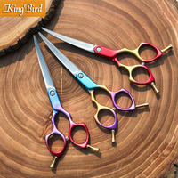 Professional Dog Grooming Shears Curved 6 Inch 6.5 Inch Curved Dog Scissors Dog Grooming Scissors Multicolor Japan 440C Kingbird