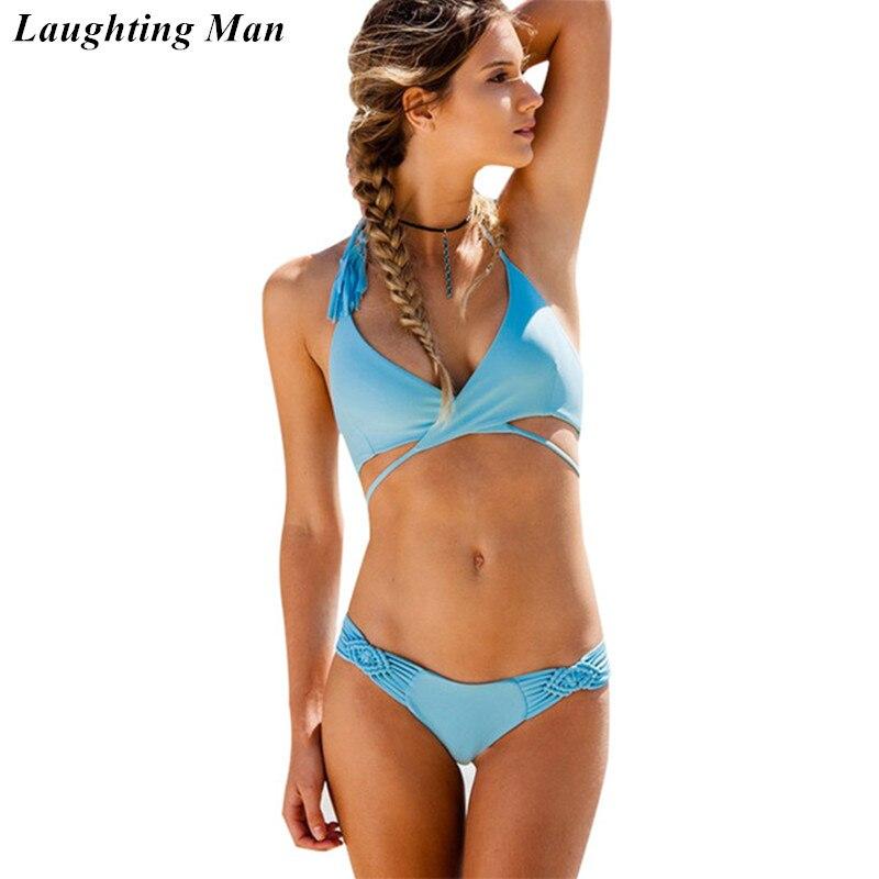 Radient Laughting Man Brand Sexy Brazilian Bikini 2019 Cross Swimsuit Women Swimwear Female Print Biquini Swim Suit Beach Monokini Yj172 At Any Cost Swimming