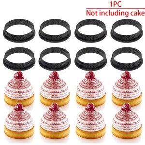 Image 2 - 1 pz fai da te Dessert francese Bakeware taglierina forma rotonda strumento di decorazione muffa della torta anello crostata Silicone perforato Mousse cerchio cucina