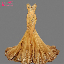 Mermaid Long wedding Dresses Sweetheart Sexy gold Hunter Runway Fashion Formal Wear bridal Dress Gowns Vestido de noiva  ZW020