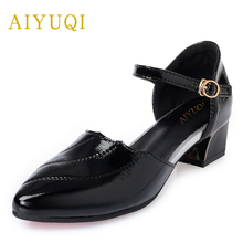2019 new summer big size 41#42#43# women shoes with hidden heel  comfort fashion platform genuine leather party