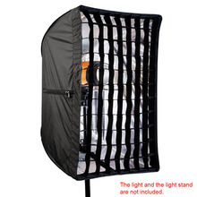 Photo Studio 50x70cm Umbrella Softbox Diffuser Reflector+Grid Honeycomb Photography Soft Box Light Box for Speedlite Flash