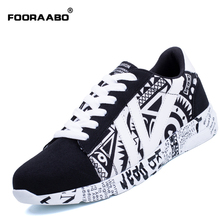FOORAABO New Men Shoes Casual Black 2017 Fashion Comfortable Autumn Mens Flats Shoes Male Walking Shoes Leather Sapato Masculino