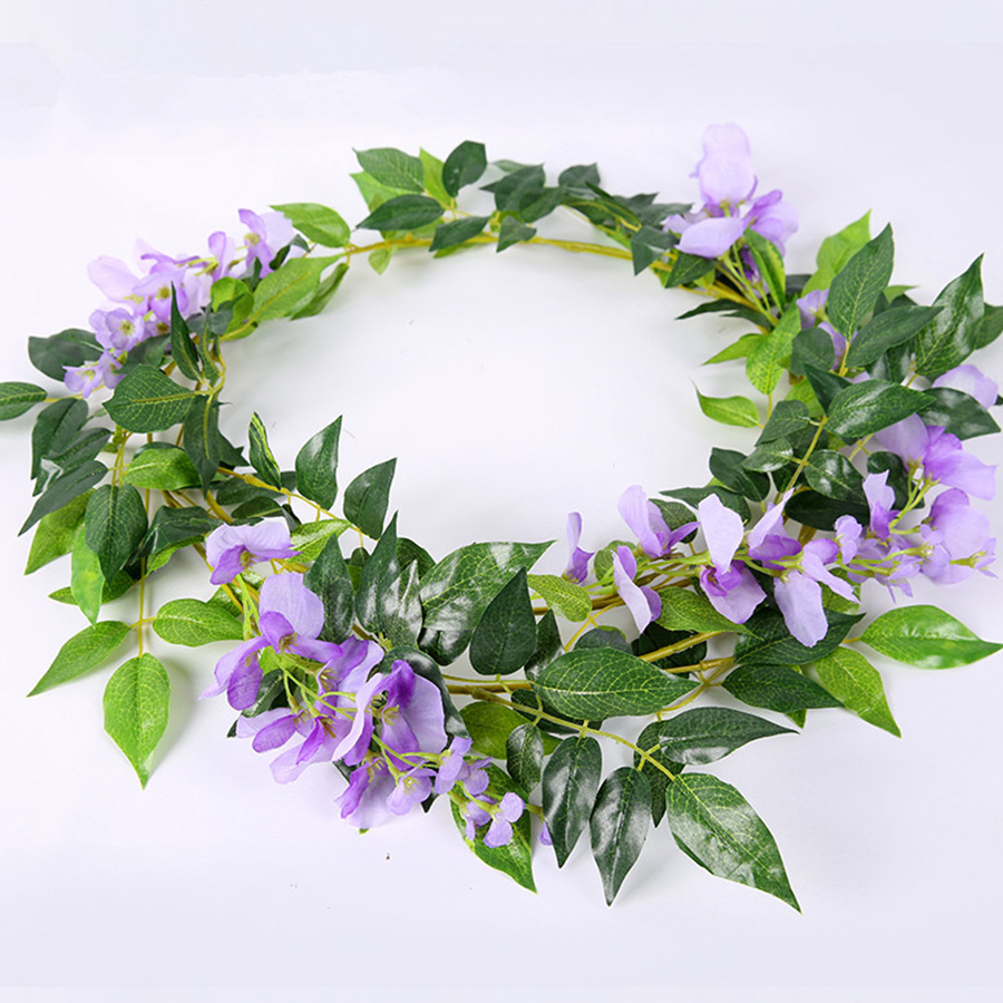 2M Wisteria Artificial Flowers Fake Plants For Wall And Indoor Decoration 1