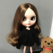 B238 Blyth Doll bjd clothes 30cm 1/6 dolls Azone Accessories handmade black Color sweater 1pcs