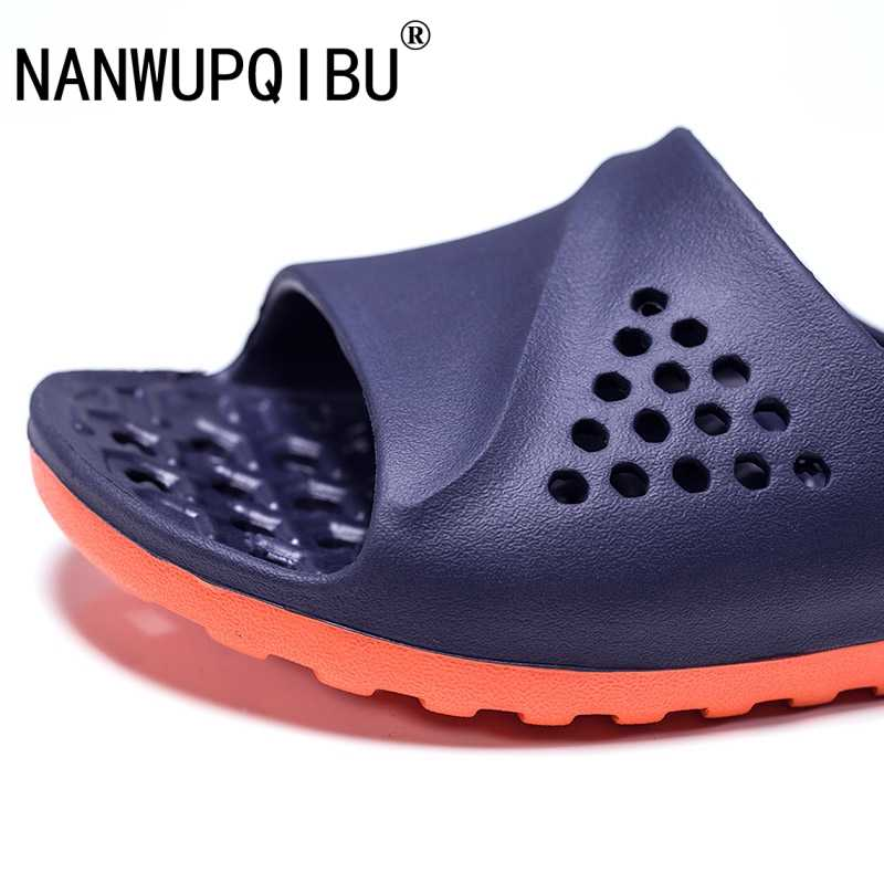 Mens Badslippers Casual Non-SLIP Slides ฤดูร้อนนวด Flip Flops ห้องน้ำ Beach รองเท้าแตะแฟชั่นนุ่ม Man รองเท้าแตะนวด