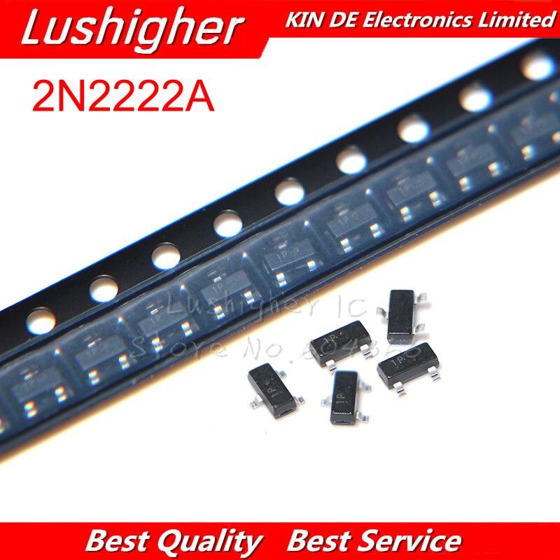 100PCS 2N2222A 2N2222 1P SOT-23 MMBT2222A SMD MMBT2222 SOT23-3 Transistor New Original
