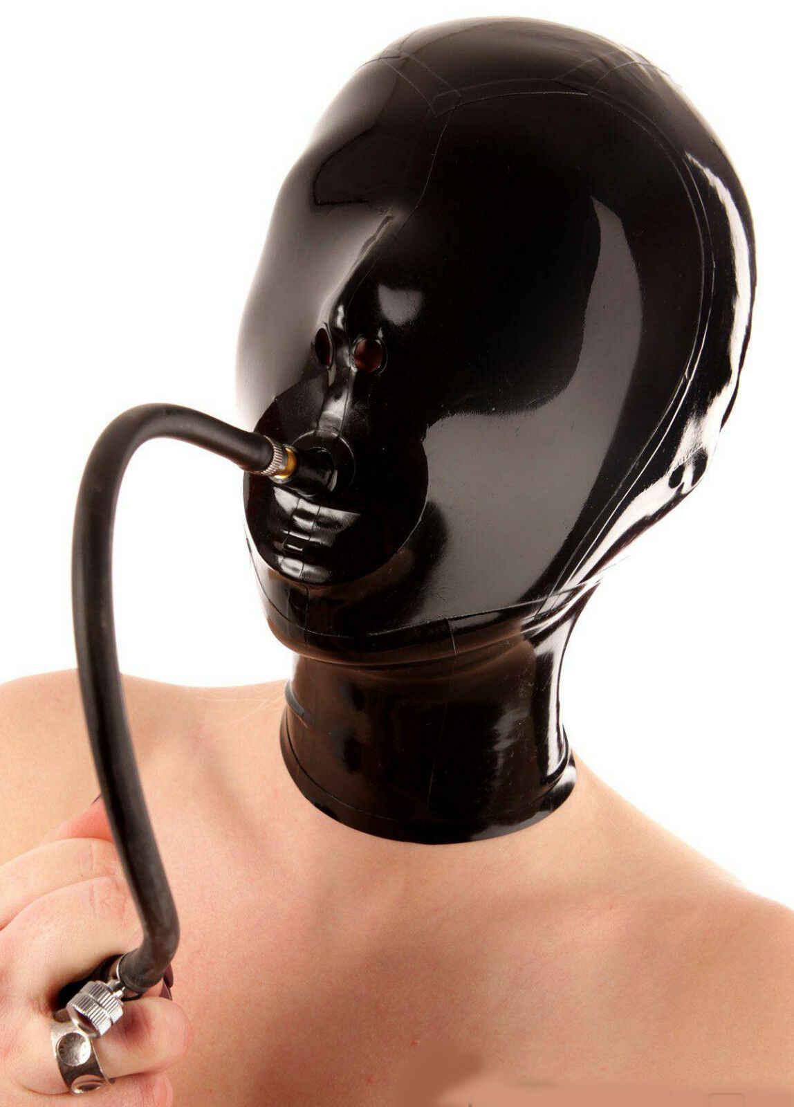 bondage masken, leder und gummi latex