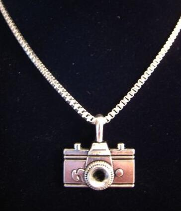 Camera Necklace Pendant Vintage Silver Charms Collar Box Chain Choker Necklace Fashion Jewelry Women Gifts DIY Accessories B109 image