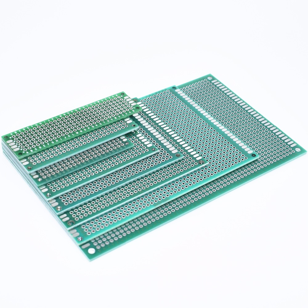 New 7x9 6x8 5x7 4x6 3x7 2x8cm Double Side Prototype Diy Universal Printed Circuit PCB Board Protoboard 4*6 6*8 5*7