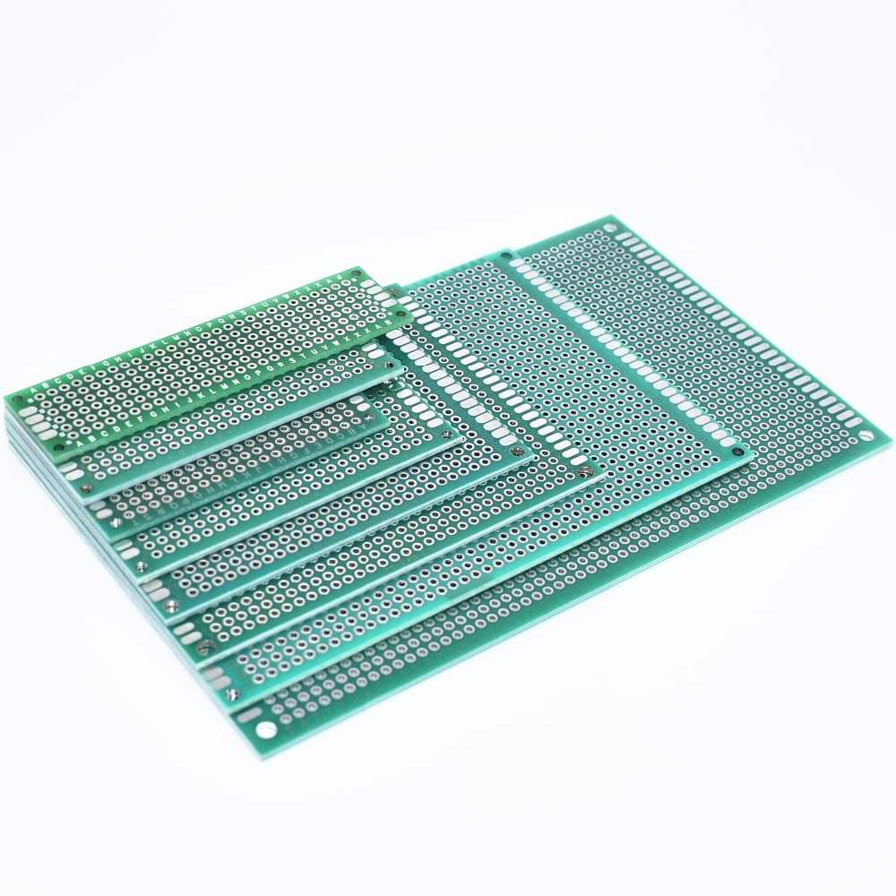 New 7x9 6x8 5x7 4x6 3x7 2x8cm Double Side Prototype Diy Universal Printed Circuit PCB Board Protoboard  4*6 6*8 5*7