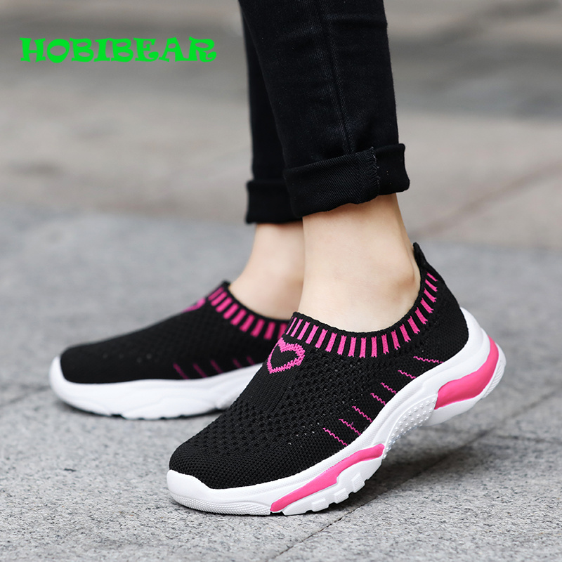 New Girls Casual Slip On Light Weight Sneakers Play Running Shoes Grey Color