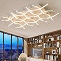 Креативные современные светодиодные потолочные лампы для гостиной  спальни  кухни  черный/белый декоративный потолочный светильник для до...