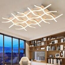 Yaratıcı Modern LED tavan ışıkları oturma odası yatak odası mutfak için siyah/beyaz Deco tavan lambası kapalı ev aydınlatma armatürleri
