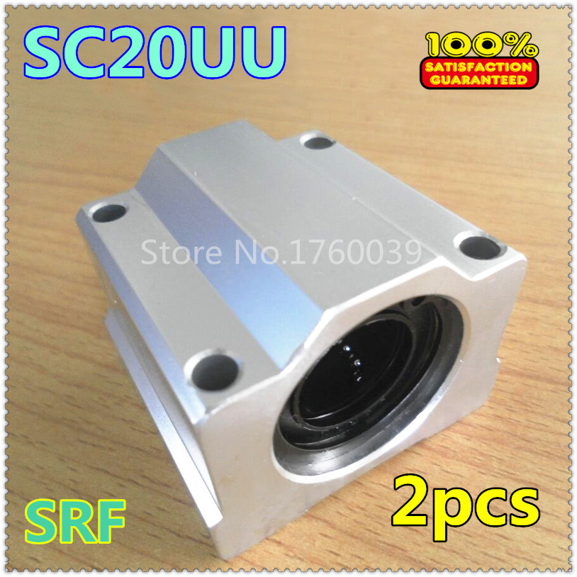 2pcs SC20UU SCS20UU 20mm Linear Ball Bearing Linear Motion Bearing pillow block for CNC Part