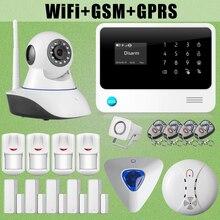 Etiger 2017 G90B WiFi GSM GPRS de Alarma Antirrobo Sirena Cableada Cámara IP Sensor de Fuego