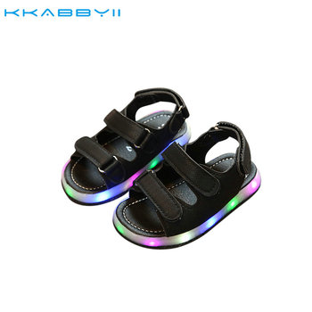 2018 NEW Summer Led Light Shoes Children Sandals Boys Girls Fashion Lighted Sandals Kids Baby Luminous Shoes