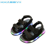 NEW Summer Led Light Shoes Children Sandals Boys Girls Fashion Lighted Sandals Kids Baby Luminous Shoes(China)