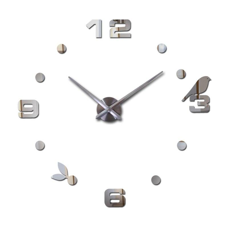 nový hot prodej diy akrylové zrcadlo velké domácí dekorace křemenné hodiny hodiny nástěnné hodinky obývací pokoj kruhový kreativní samolepky