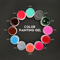 MONASI Professional Factory Nail Art Paint Gel Painting Free Shipping Peel Off 36 Colors Long Lasting Soak Off UV/LED Color Gel