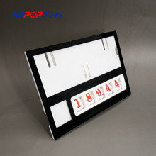 Plastic Number Changable by Hand POP Price Label Display Signs Tag Paper Frame Clip Holders in Supermarket Retail 10sets стоимость