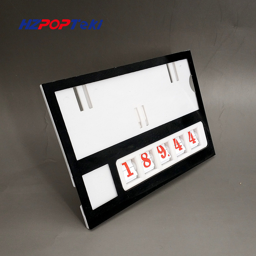 Plastic Number Changable by Hand POP Price Label Display Signs Tag Paper Frame Clip Holders in Supermarket Retail 6sets