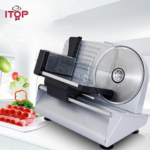 ITOP Automatic Electric Meat Slicer Beef Lamb Cutting Machine Vegetable Bread Cutter Stainless Steel Food Slicer 220V 240V цена и фото