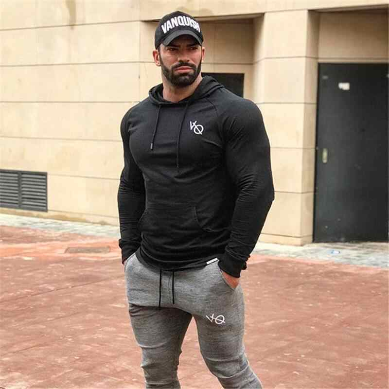 2018 Mens Running Jassen Workout Sport Jas Outdoor Oefening Training Gym Soft Shell Hooded Sneldrogende Jogging Jogger Jas