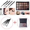 4 pcs Eyeshadow Eye Brush Cosmetic Makeup Brushes + 28 Color Eye Shadow Palette Make Up Eyeshadows