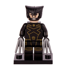 Single Sale Black Wolverine James X MEN Apocalypse MARVEL SUPER HEROES Model minifig Assemble Building Blocks