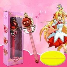 New Girl Toys Anime Cosplay Sailor Moon Wand Musical Magic Wand Musical Spiral Heart Moon Rod Henshin Rod Glow Stick  kids toys original bandai sailor moon crystal 20th anniversary gashapon sailor moon wand charm part 3 henshin rod