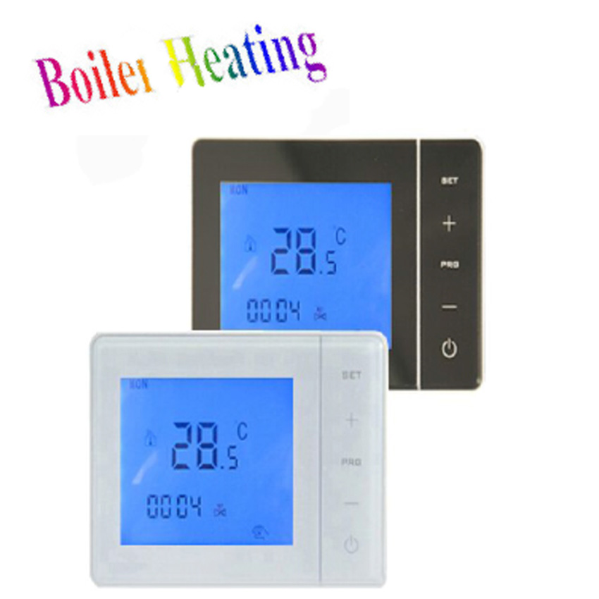 HY01WE Touch Screen Digital Room Warm Programmable Thermostat Thermoregulator For Floor Electric Heating System Infrared Heater hot sale digital boiler electric heating temperature instruments thermostat thermoregulator 16a air underfloor with floor sensor