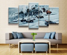 Fate of the Furious 8 Movie 5 Piece Home HD Print Picture Poster Wall Art For Living Room Painting Canvas