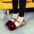 Plue Размер 35-42 Мокасины Меховые Ботинки Квартир Женщин Мокасины Модные Печати Chaussure Femme Мелкой Schoenen Дешевая обувь китай