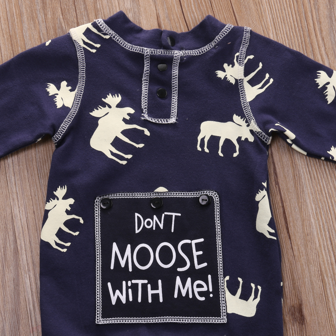 Fashon Newborn Infant Baby Girl Boy Moose Deer Long Sleeve Cotton Romper One-pieces Xmas Outfits Christmas 10