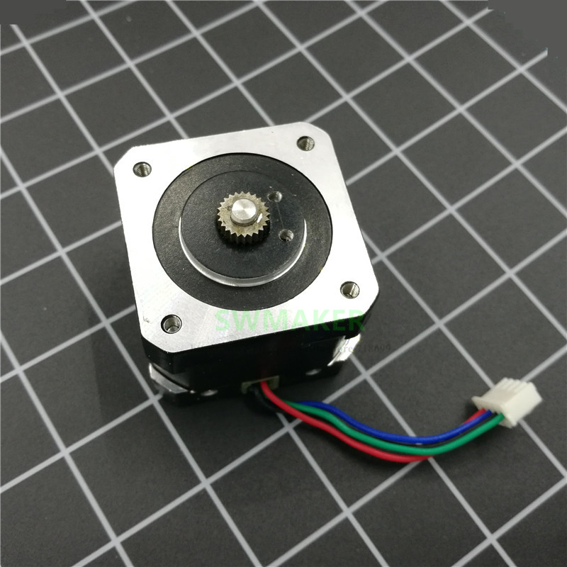 SWMAKER UP Plus/mini/Box/Afinia replacement Extruder Stepper Motor with driver gear for UPtaier/Afinia 3D printer parts