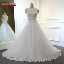 AMANDA NOVIAS Simple But Elegant Cheap Wedding Dress