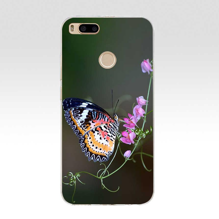 63we suporte de borboleta no nariz do gato macio silicone tpu capa caso do telefone para xiaomi redmi 4a 4x nota 4 4x mi a1 a2 lite
