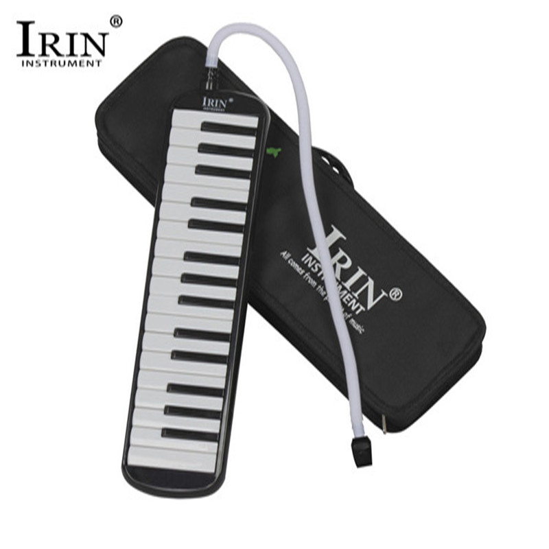 IRIN 32 Piano Keys Keyboard Style Melodic With Hard Storage Case Organ Accordion Children Students Musical Instrument Black